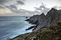 La Pointe du Raz, westest rocky point of Brittany and France.