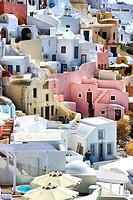 The village of Oia, Santorini, Cyclades Islands, Greece