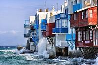 Little Venice, Mykonos Island, Greece, Europe