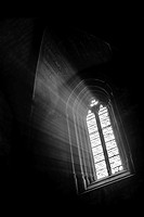 Sun-lit window in the cistercian church of Vallbona de les Monges