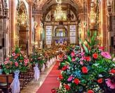 Basilica Christmas Marriage Wedding Parroquia Archangel church San Miguel de Allende, Mexico. Parroaguia created in 1600s.