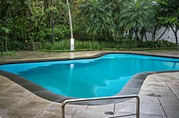 Instituto Moreira Salles, Swimming pool in the garden, Rio de Janeiro, Brazil.