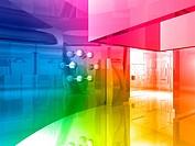 conceptual architecture, open space of colors.