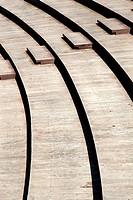 Wood terraces.