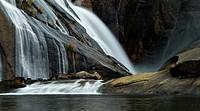 Spain. Galicia. A Corunna. Waterfall of the river Xallas. Monte Pindo. Rias Baixas.
