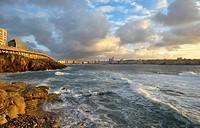 Spain. Galicia. A Coruña. Riazor´s beach.