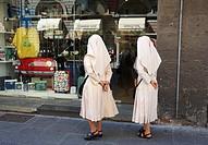 Nuns Window Shopping, Florence, Italy.