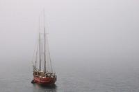 Norway, Svalbard islands, Spitsbergen island, sailing ship.