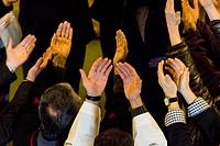 celebracion de misa cristiana en la ermita de Sant Honorat, Puig de Randa, municipio de Algaida, Majorca, Balearic Islands, Spain