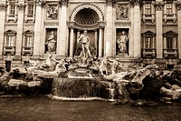 Italy, Rome, The Trevi Fountain in Rome Italy.