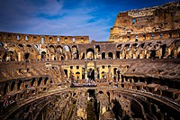 Italy. Rome. The Colosseum in Rome.