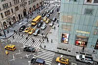 Intersection of Fifth Avenue and East 57th Street, Manhattan, New York City.