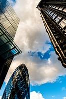"""30 St Mary Axe, known as """"""""The Gherkin"""""""", London, England, United Kingdom."""
