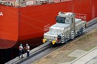 Miraflores Locks visitors center Panama Canal, Panama City, Panama, Central America.