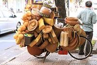 Overloaded bike with baskets, Saigon, Vietnam, Asia.