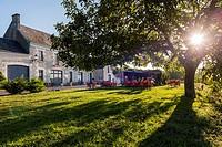 L´Auberge de Crissay at Crissay-sur-Manse, Labeled The Most Beautiful Villages of France. Indre-et-Loire, Centre region, Loire valley, France, Europe.
