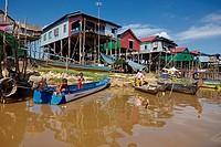 Floating village of Kompong Phluk, Siem Reap, Cambodia.