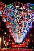 Christmas lights. Barcelona. Catalonia. Spain