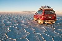 Traveling in Uyuni Salar. Oruro Department. Bolivia, South America