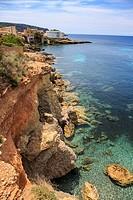 The coast of Mallorca Island, the Balearic Islands in the Mediterranean Sea, Spain.