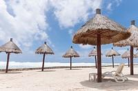 Mexico, Quintana Roo, Yucatan Peninsula, Port of Costa Maya, Akumal beach.