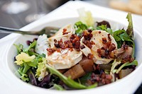 Sevilla, Spain, delicious goat cheese salad with honey