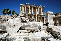 Library of Celsus. Ephesos. Ancient Greece. Asia Minor. Turkey