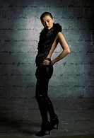 fashion image of young asian woman.
