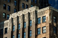 art deco detail on the Marine Building, Vancouver, BC, Canada.