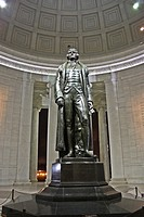 Statue of Thomas Jefferson in the Jefferson Memorial in Washington, D. C. , USA.