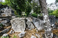 North Necropolis of Termessos. The unexcavated Pisidian city. Ancient Greece. Asia Minor. Turkey.