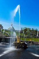 Samson Fountain In Peterhof, Saint Petersburg, Russia.