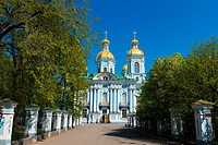 St. Nicholas Naval Cathedral in St. Petersburg, Russia.
