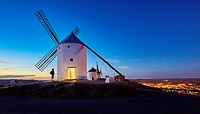 Windmills of Consuegra. Don Quixote route. Toledo. Castile-La Mancha. Spain.