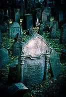 Old Jewish cemetery in Prague.