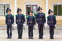 Soldiers of the Kingâ. . s guard at the Royal Palace, Oslo, Norway.