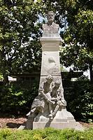 Writer Jules Vernes statue, Jardins des Plantes, Nantes, Loire Atlantique, France