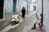 Street scene, Stone Town, Zanzibar, Tanzania.