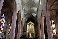 Saint Malo church in Dinan, Cotes d'Armor, Bretagne, France, Europe.