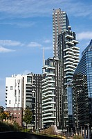 Buildings, Milan, Lombardy, Italy.