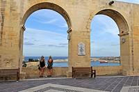 Upper Barrakka Gardens, Valletta, Malta, Southern Europe.