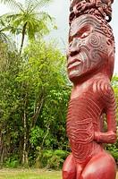 Maori totem. Whanganui National Park. New Zealand.