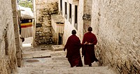 Lhasa, Tibet - The view in Drepung Monastery, the biggest Buddhism Monastery in the world.