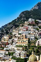 The charming coastal resort village of Positano, Amalfi Coast, Italy.