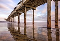 Scripps Pier, coastal scene. La Jolla, California.