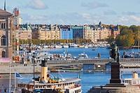Stockholm vista from Gamla Stan, Sweden, Scandinavia.