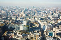 Aerial view of London.