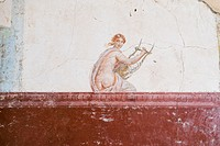 Ruined Roman Fresco in the Bay of Naples, Italy.