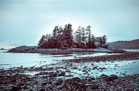 Magic Island at Halibut Point State Recreation Area near Sitka, Alaska, USA.