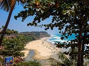 view at beach in varkala, kerala, india